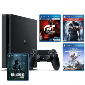 PlayStation 4 1TB F chassis + GT Sport + Horizon Zero Dawn CE + Uncharted 4 Hits + The Last Of Us 2 Standard Edition